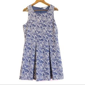 41 Hawthorn Jacquard Floral Fit and Flare Dress L
